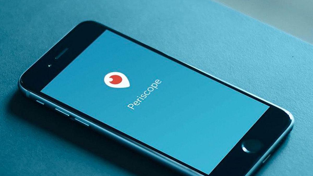 Periscope app on iPhone.
