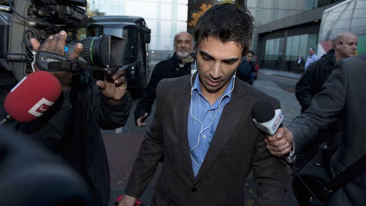 Salman Butt leaves the Southwark Crown court after being found guilty of spot-fixing in London in November, 2011.