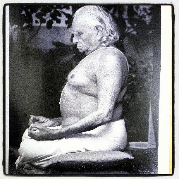 A file photo of B.K.S. Iyengar.
