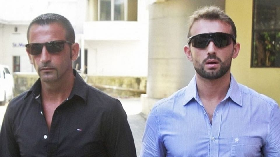 Italian Marines Massimiliano Latorre (left) and co-accused Salvatore Girone charged with murder of Kerala fishermen. (Photo: Reuters)