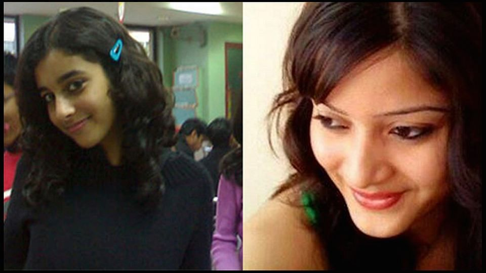 Aarushi Talwar (left) and Sheena Bora (right). (Photo: The Quint)