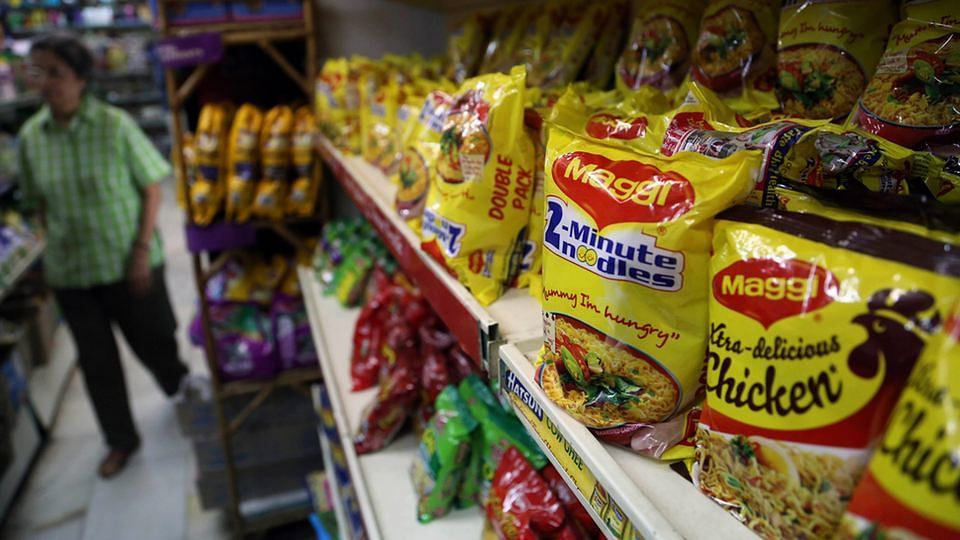 Maggi on store shelves before the ban (Photo: AP)