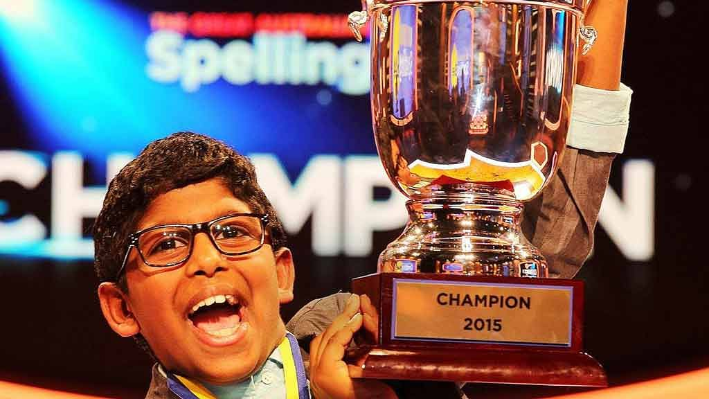 """Anirudh Kathirvel, 9-year-old spelling bee champion. (Photo: Facebook/<a href=""""https://www.facebook.com/SpellingBeeAU/photos_stream"""">The Great Australian Spelling Bee</a>)"""