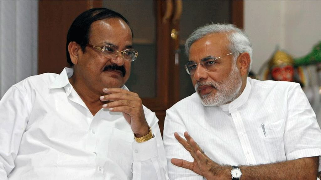 Parliamentary Affairs Minister Venkaiah Naidu with Prime Minister Narendra Modi. (Photo: Reuters)