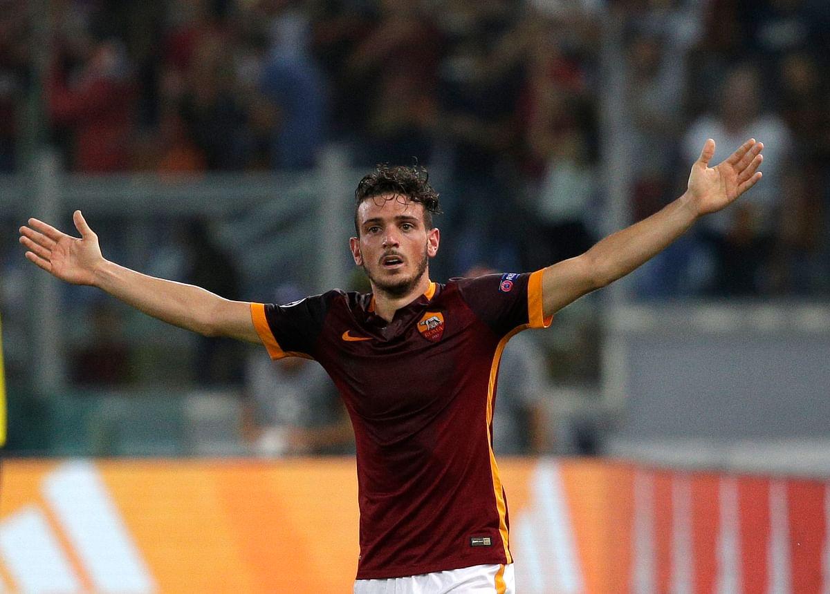 AS Roma's Alessandro Florenzi celebrates after scoring the equaliseragainst Barcelona. (Photo: Reuters)