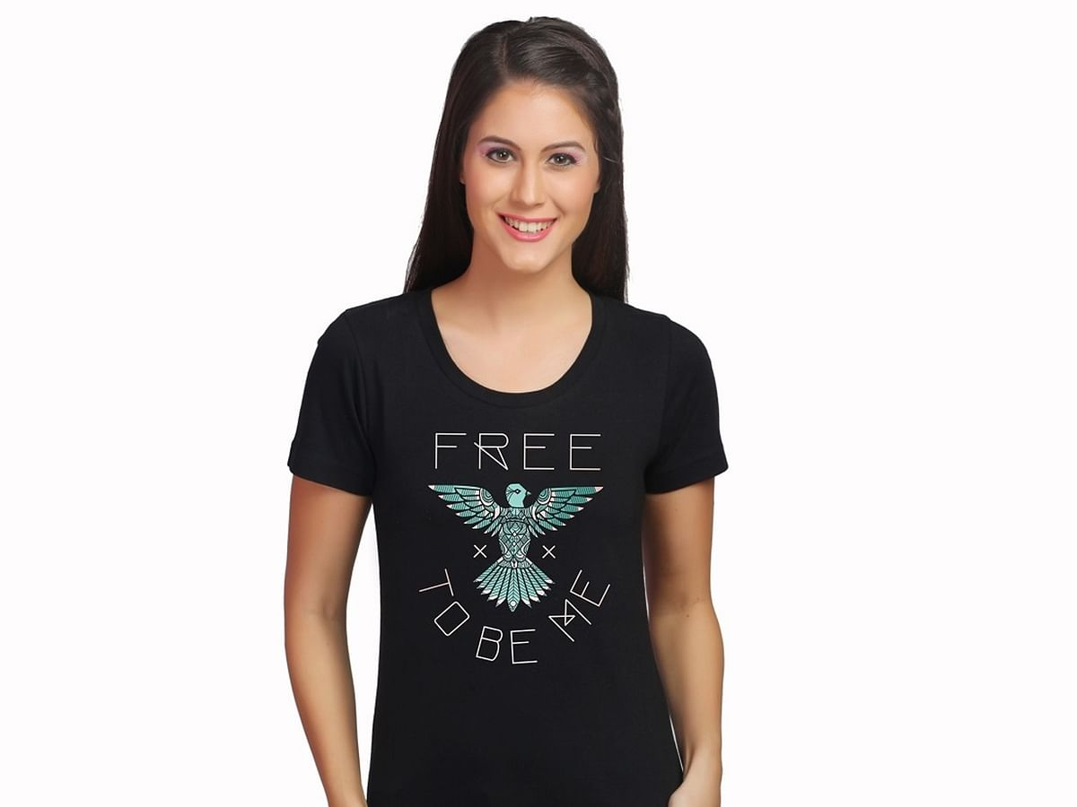 A t-shirt made by the ToF organisation which provides jobs to thousands of sex trafficking survivors. (Photo Courtesy: Threads of Freedom)