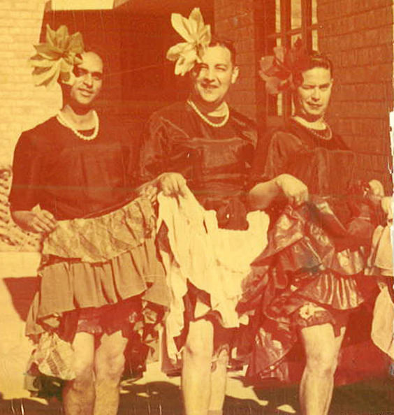Showing some leg as 'Can-Can' dancers, Capt PR Jesus with fellow  officers in the 1940s (Photo: Rohit Khanna)