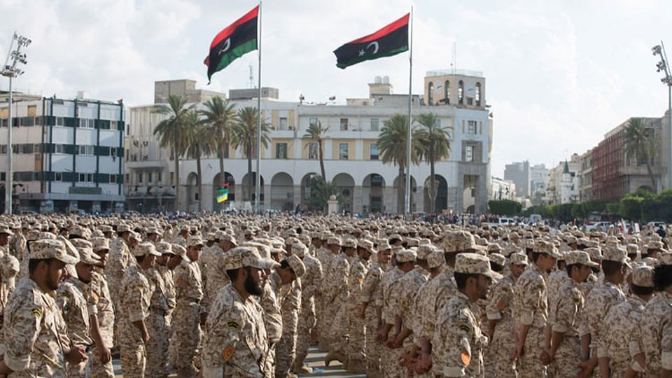 Military units operated by the Tripoli government in Sirte, which the ISIS fought with for control of Sirte. (Photo: AP)