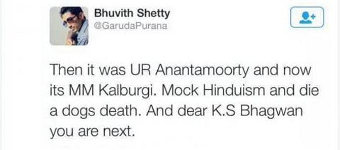 After Kalburgi's Murder Another Rationalist Receives Death Threat