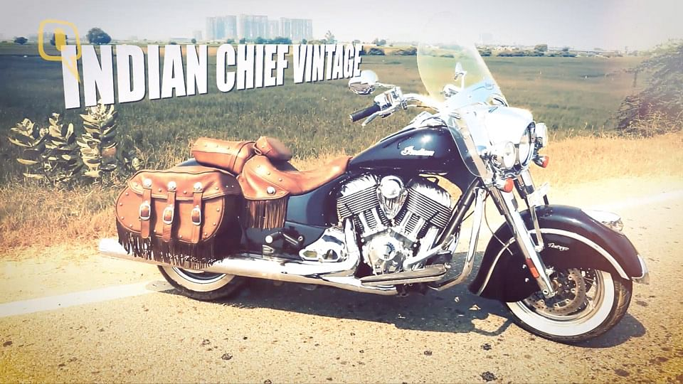 The Indian Chief Vintage in all its chrome-laden, leather-bound glory. (Photo: <b>The Quint</b>)