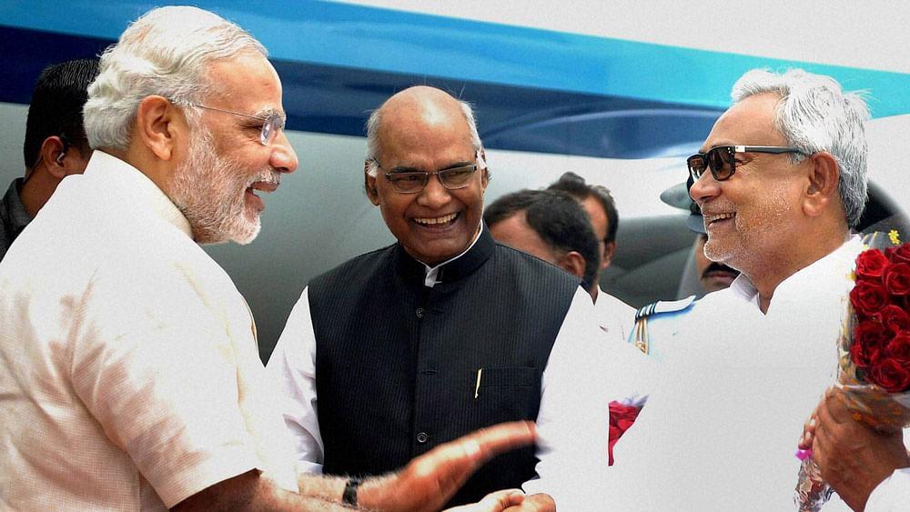 File photo of PM Modi with Bihar CM Nitish Kumar. (Photo: PTI)