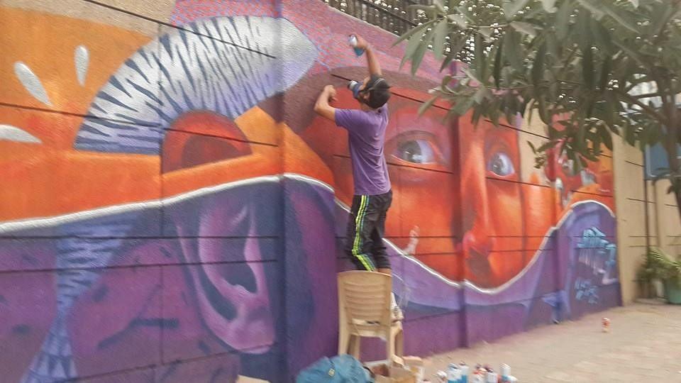 "Going incognito? Not quite. Work in progress at Tihar Jail. (Photo: Facebook/<a href=""https://www.facebook.com/st.artdelhi/photos_stream"">St.ART Delhi</a>)"