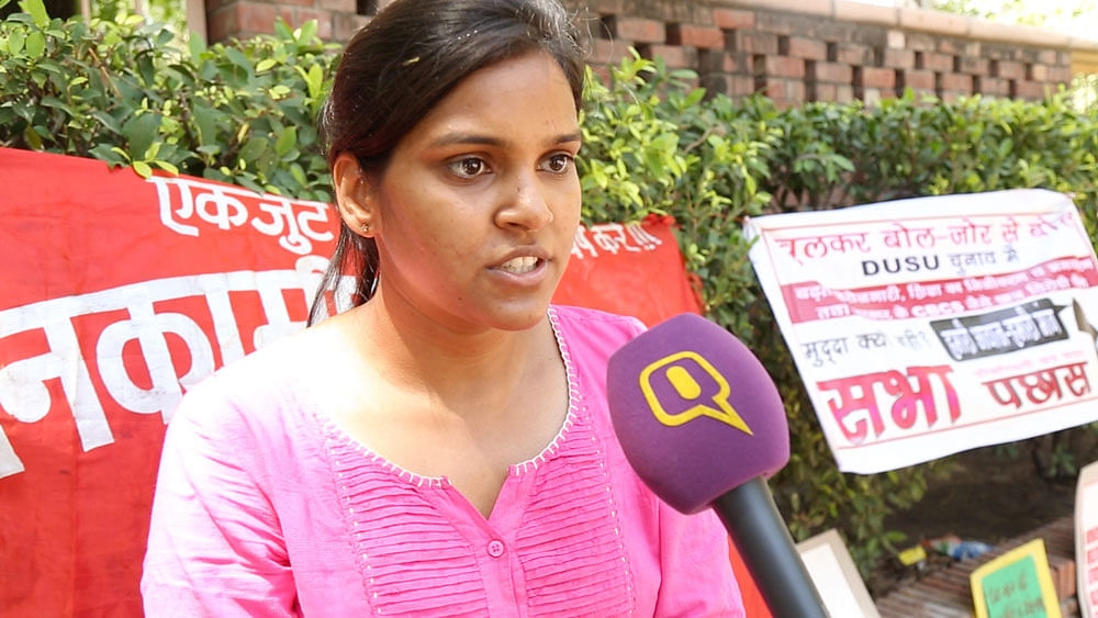 Shubhra talks about the superficiality of the 2016 DUSU campaign. (Photo: The Quint)