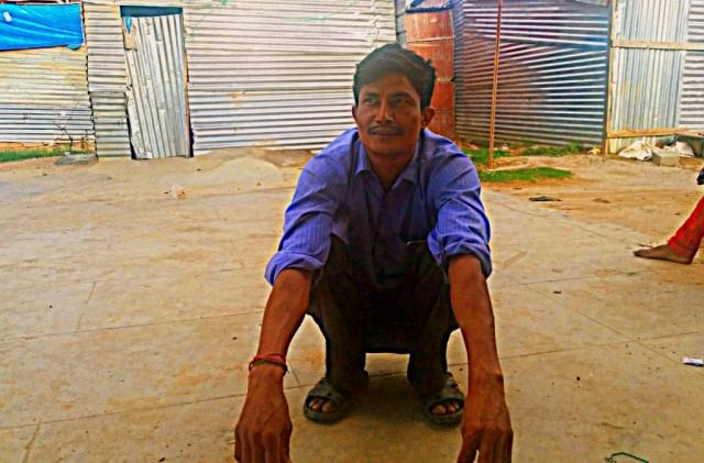 """Deepak has seen many """"accidents"""" in the construction sites he has worked for. (Photo courtesy:<i>The News Minute</i>)"""