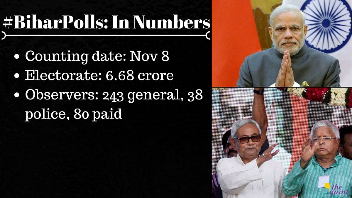 Battle for Bihar in 5 Phases, Counting on Nov 8