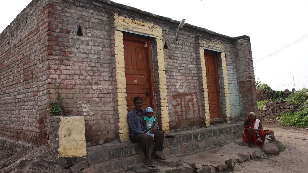 This house in Beed district, Maharashtra belongs to the son of Sanap Bhanudas Satwaji, who killed himself because he couldn't pay back a loan taken for a well. (Courtesy: Vivian Fernandes)