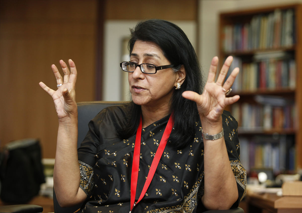 Naina Lal Kidwai, HSBC country head for India, speaks during an interview with Reuters in Mumbai (Photo: Reuters)