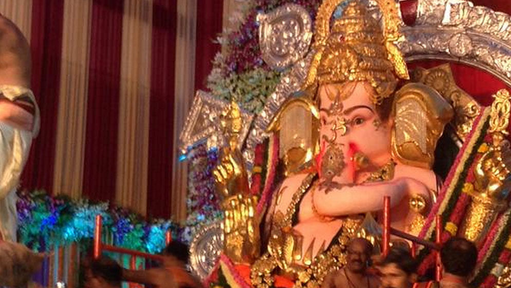 A Ganesh idol at the GSB Seva Mandal pandal in Mumbai. Photo for representational purposes only.