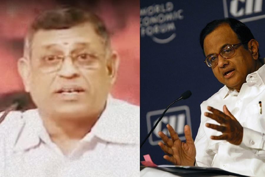 P Chidambaram allegedly received black money via healthcare chain Vasan Eye Care.(Photo courtesy: <i>The News Minute</i>)