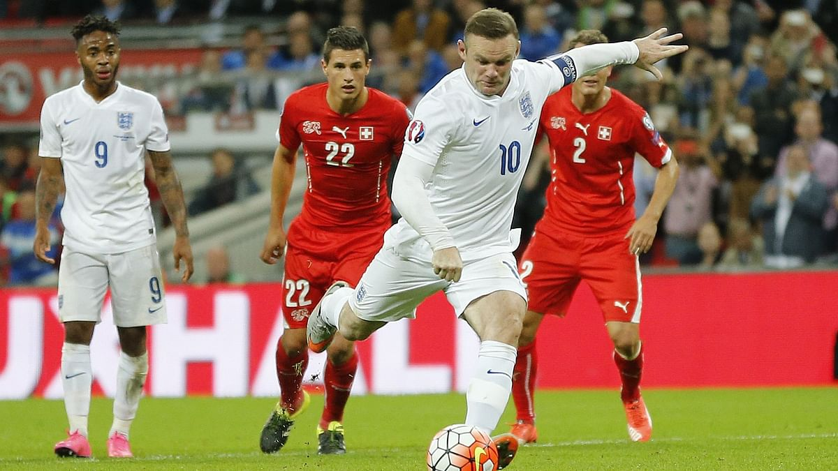 Wayne Rooney in action against Switzerland in the Euro qualifiers on Tuesday. (Photo: AP)
