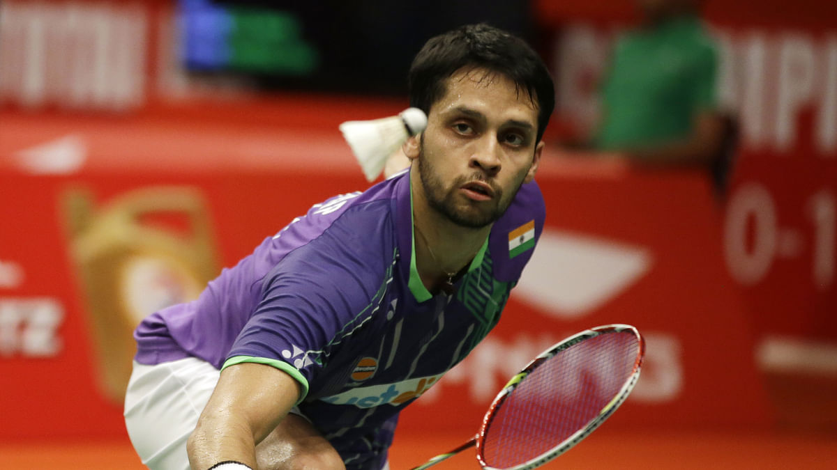 File pictures of Parupalli Kashyap in action.