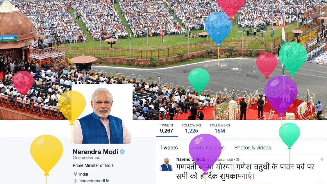 "PM Modi's twitter page celebrating his birthday. (Photo: <a href=""https://twitter.com/narendramodi"">Twitter/narendramodi</a>)"