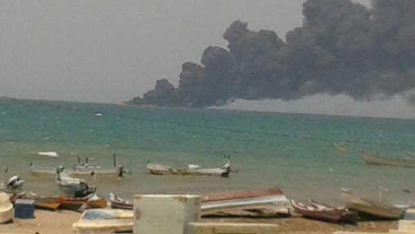 "Purported image of Saudi-led air&nbsp;strike in Yemen (Photo courtesy: <a href=""https://twitter.com/rock_arab/status/641252982672064512?ref_src=twsrc%5Etfw"">Twitter</a>)"