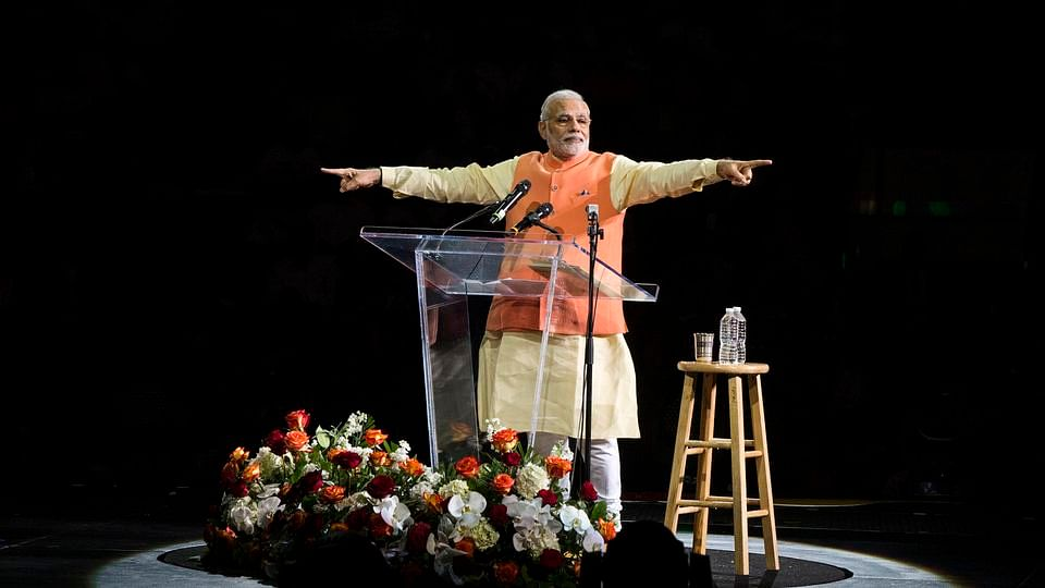 Narendra Modi at the Madison Square Garden in New York in 2014. (Photo: Reuters)