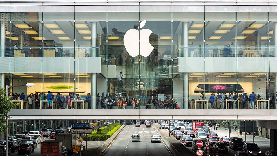 An Apple store in China.