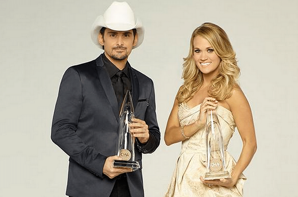 Carrie Underwood and Brad Paisley (Photo: Twitter/@eonline)