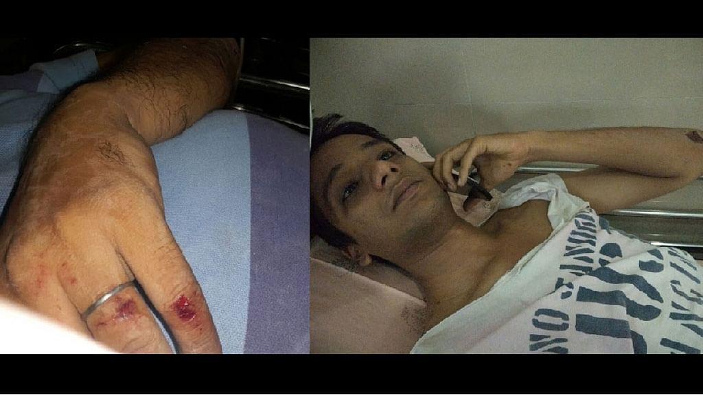 Injured Adil in the hospital. (Photo courtesy: <i>The News Minute</i>)