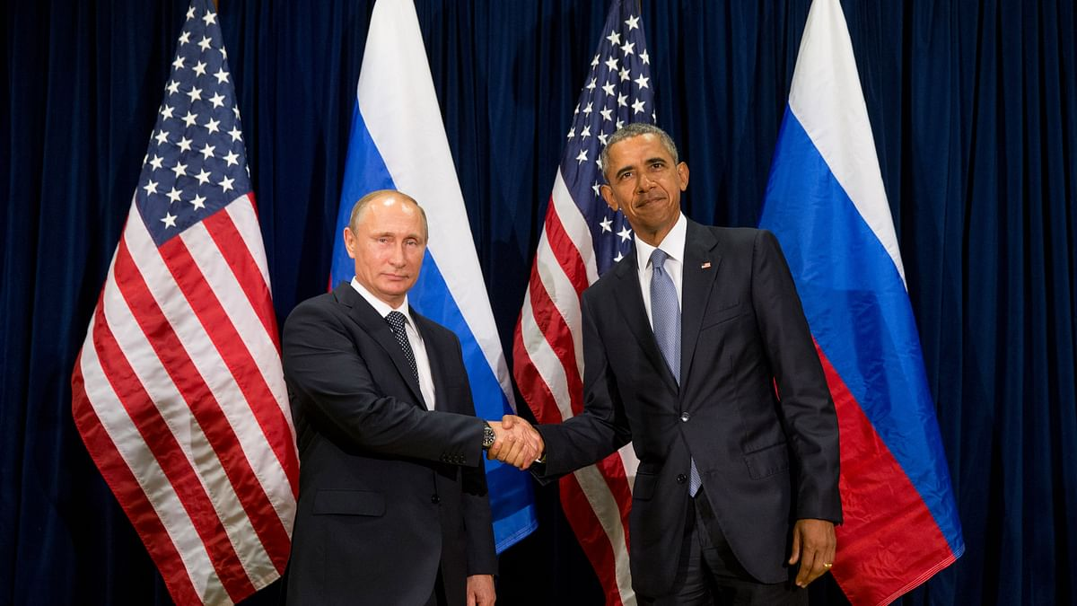 United States President Barack Obama, right, and Russia's President Vladimir Putin on Monday. (Photo: AP)<a></a>