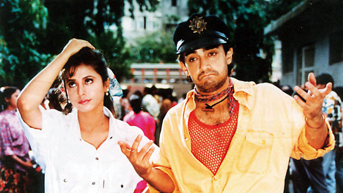 Urmila Matondkar and Aamir Khan in a scene from Ram Gopal Varma's&nbsp;<i>Rangeela</i>