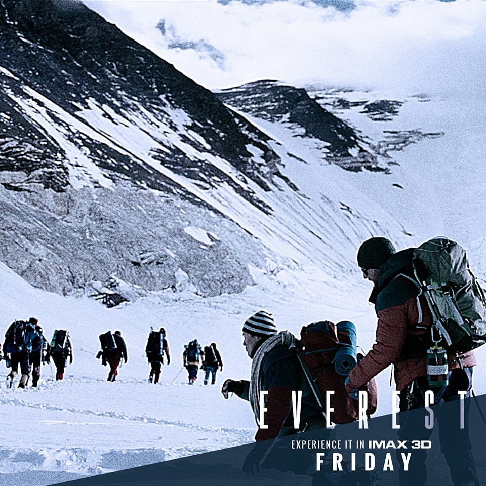 "The 3D, Dolby sound and CGI effectively display the majesty of Everest and the enormity of the situation faced by the climbers. (Photo: <a href=""https://www.facebook.com/EverestMovie/photos/pb.203897209788040.-2207520000.1442476710./483945661783192/?type=3&amp;theater"">Facebook/Everest</a>)"