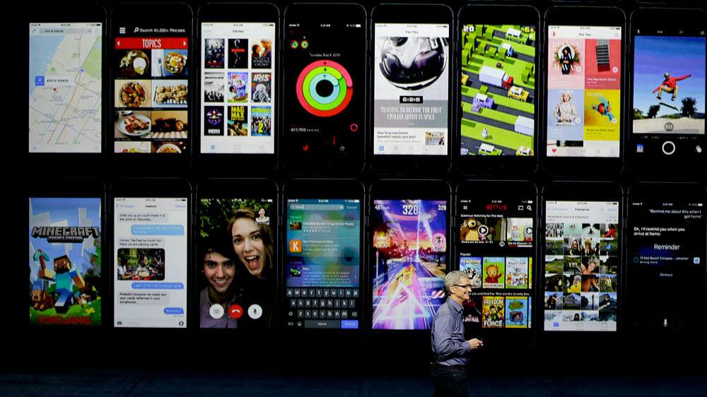 Apple CEO Tim Cook discusses Apple TV product advancements. (Photo: AP)