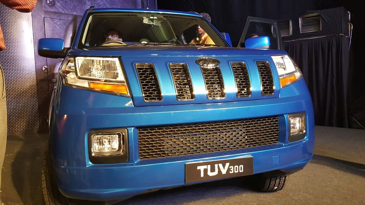 The front grille of the TUV300. (Photo: The Quint)