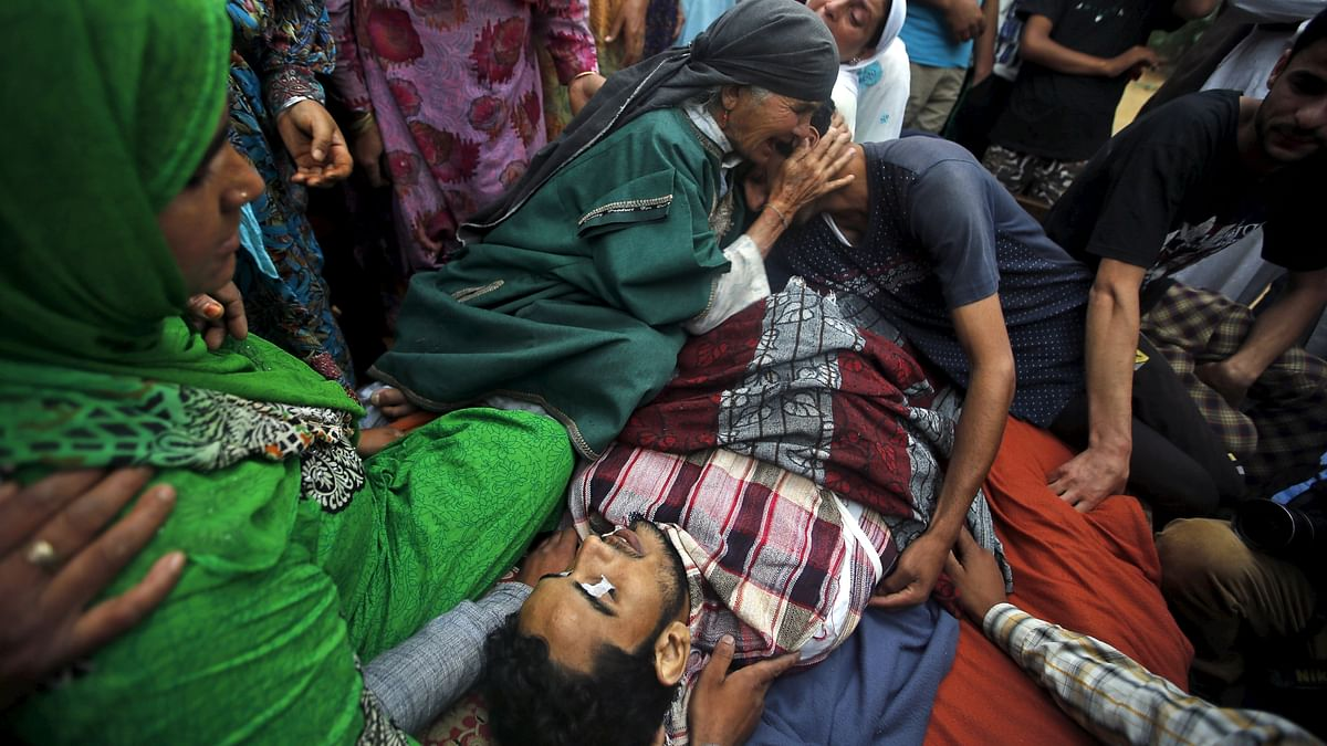 A civilian killed by Indian security forces. (Photo: Reuters)