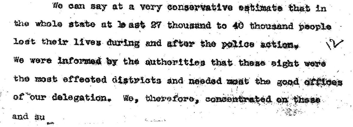 From the Sunder Lal Committee Report