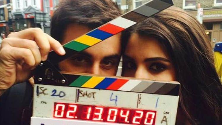 Ranbir Kapoor and Anushka Sharma on the sets of <i>Ae Dil Hai Mushkil</i> (Photo: Twitter/@karanjohar)&nbsp;