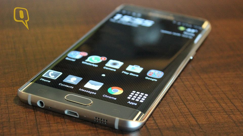 Samsung Galaxy S6 Edge+. (Photo: The Quint)