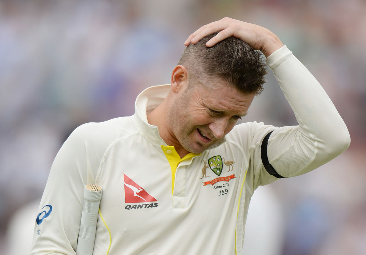 Michael Clarke walks off after another dismal innings during the Ashes.(Photo: Reuters)