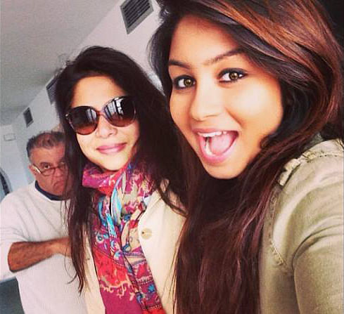 """Indrani Mukerjea with daughter Vidhie and Peter Mukerjea. (Photo: <a href=""""https://www.facebook.com/photo.php?fbid=924177817607560&amp;set=pb.100000460525639.-2207520000.1443133214.&amp;type=3&amp;theater"""">facebook.com</a>)"""