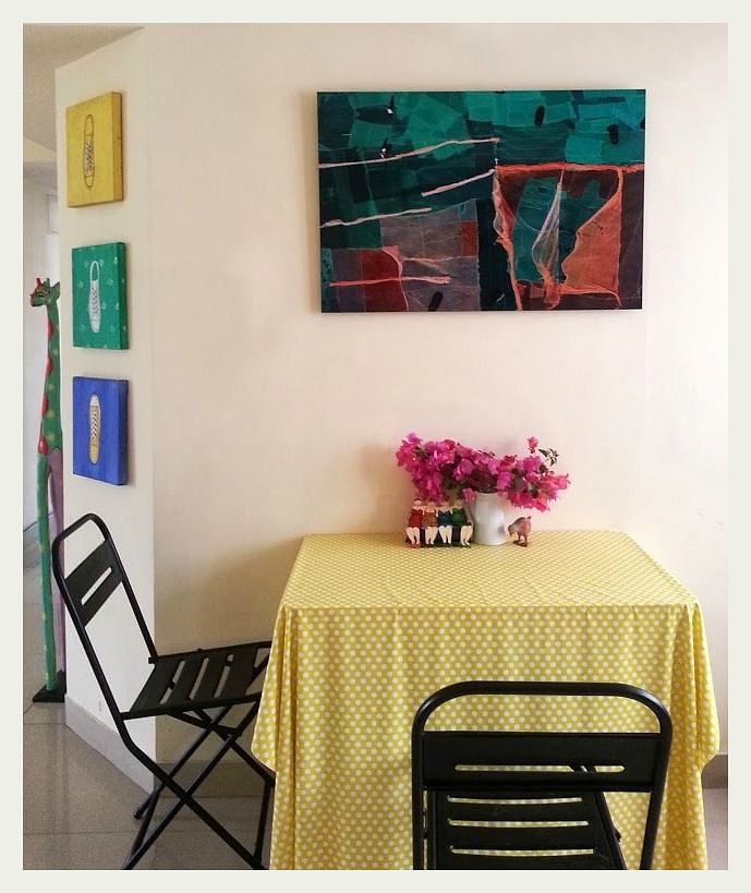 A dining table with wrought iron chairs(Photo: An Indian Summer)