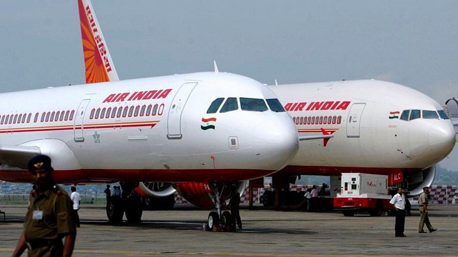 Air India planes stand at the Indira Gandhi International Airport, New Delhi. Representative image.