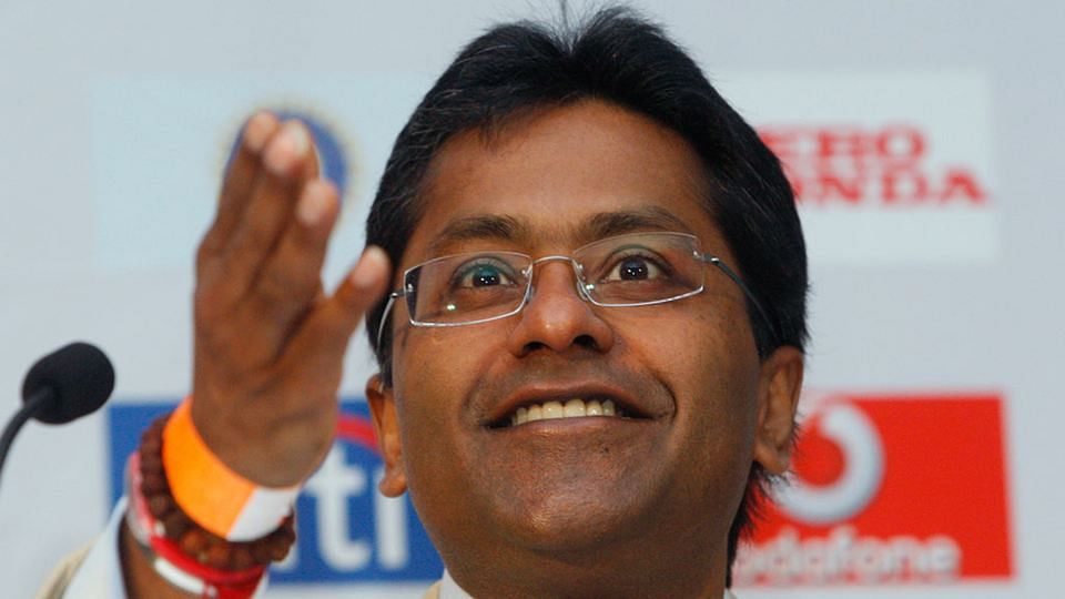 Lalit Modi at his happiest, addressing the media. (Photo: Reuters)