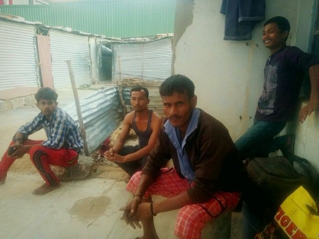 Left to Right(sitting): Sumith Kumar, Bibhisan Burman and Raju Singh
