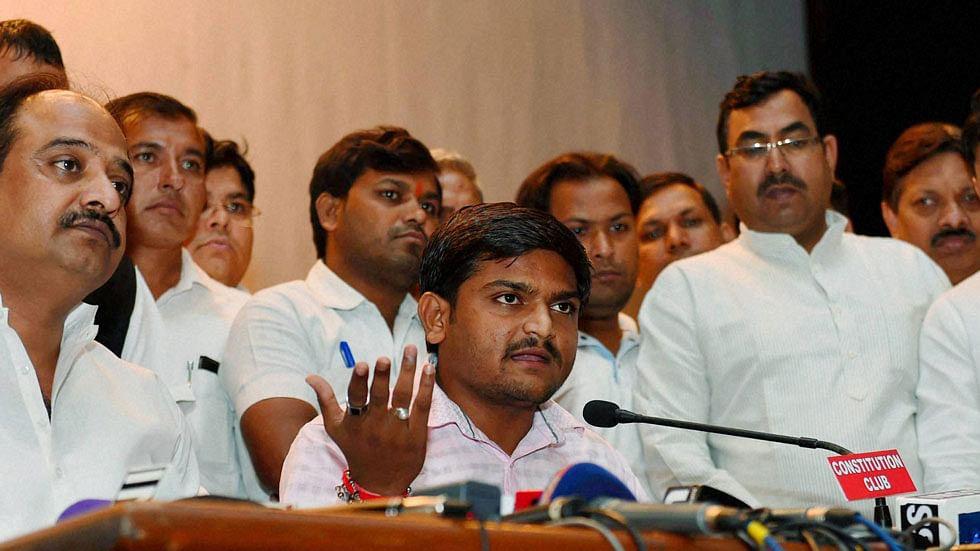Hardik Patel, convener of the Patidar Anamat Andolan Samiti (PAAS).