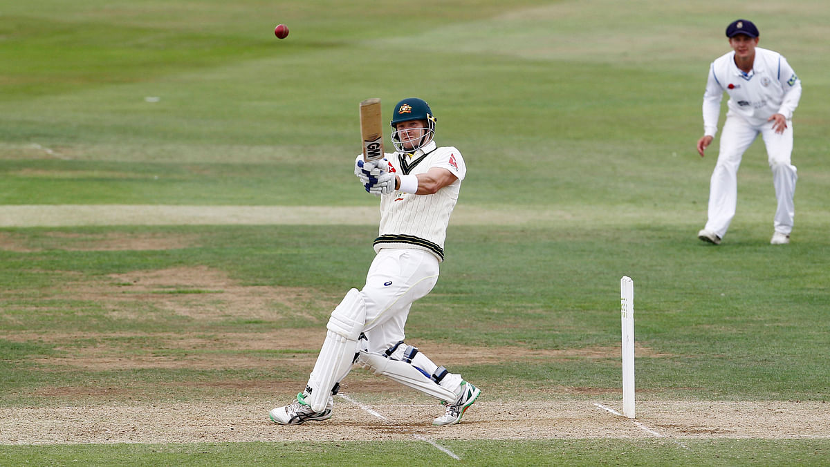 Shane Watson played only the first Ashes Test before he was dropped.(Photo: Reuters)