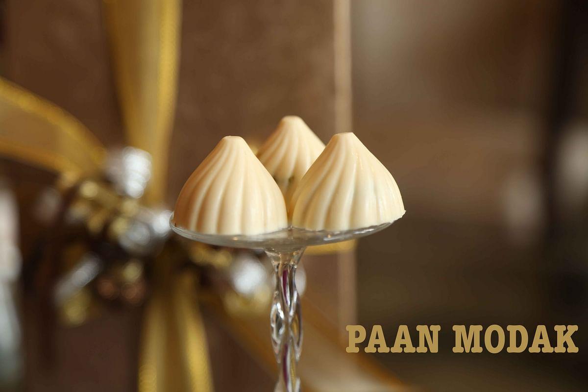 <i>Paan</i> flavoured<i> modaks</i> by Neeru's Cakes &amp; Desserts (Photo: The Quint)