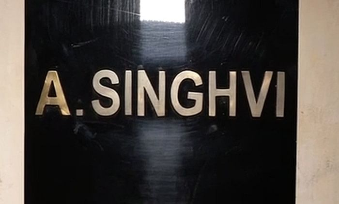 Singhvi's house in Jaipur, Rajasthan. (Photo: ANI)